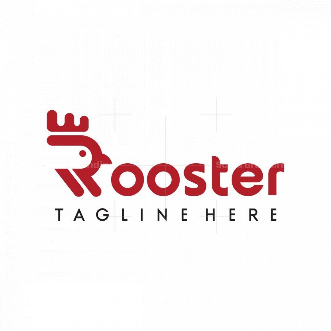 Letter R Rooster Logo