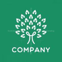 Letter R Tree Logo