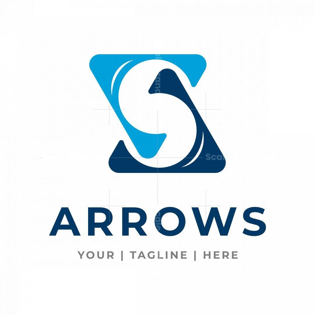 Letter S Arrows Logo