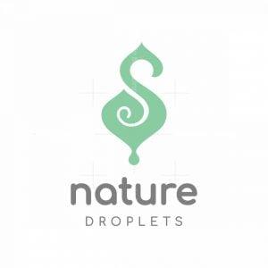 Elegant Letter S Leaf Droplet Logo