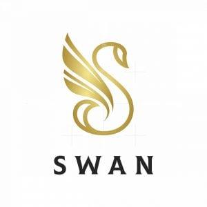Elegant Letter S Swan Logo