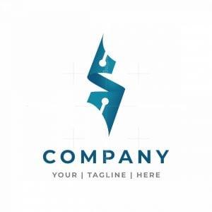 Sharp Letter S Tech Logo