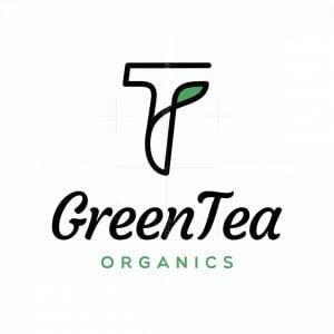 Letter T With Leaf Logo