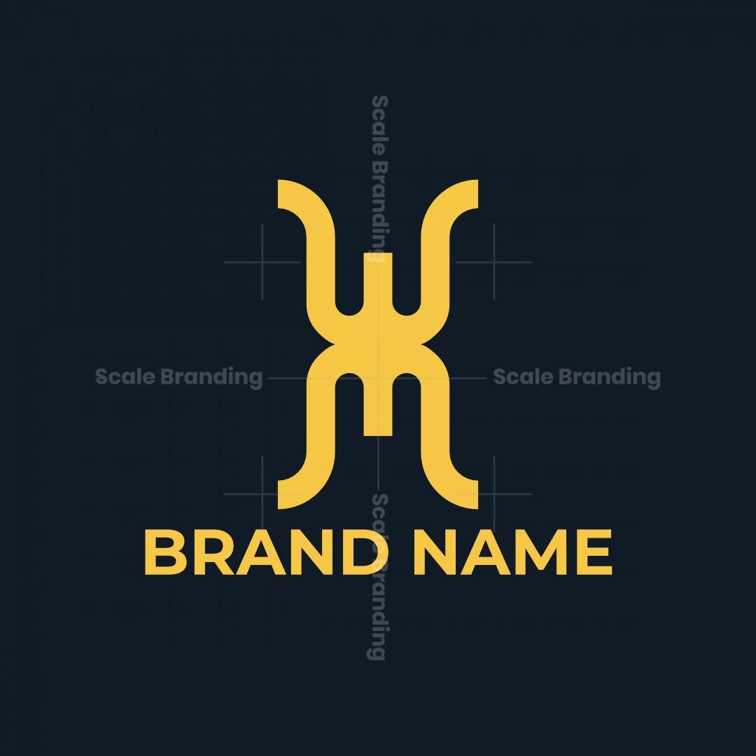 Letter Wm Monogram Logo