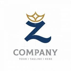 Elegant Letter Z With Crown Logo