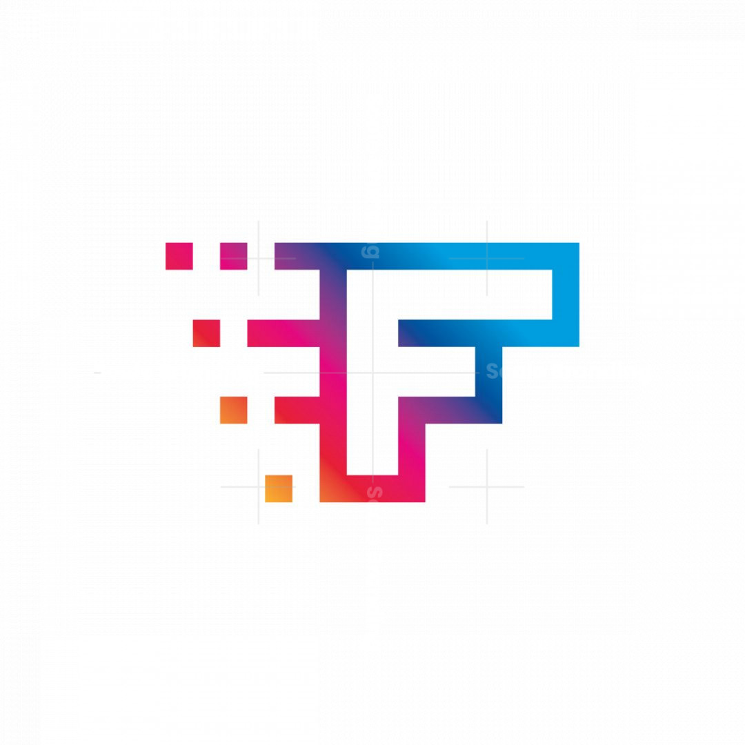 Modern Letter F Digital And Sporty Logo