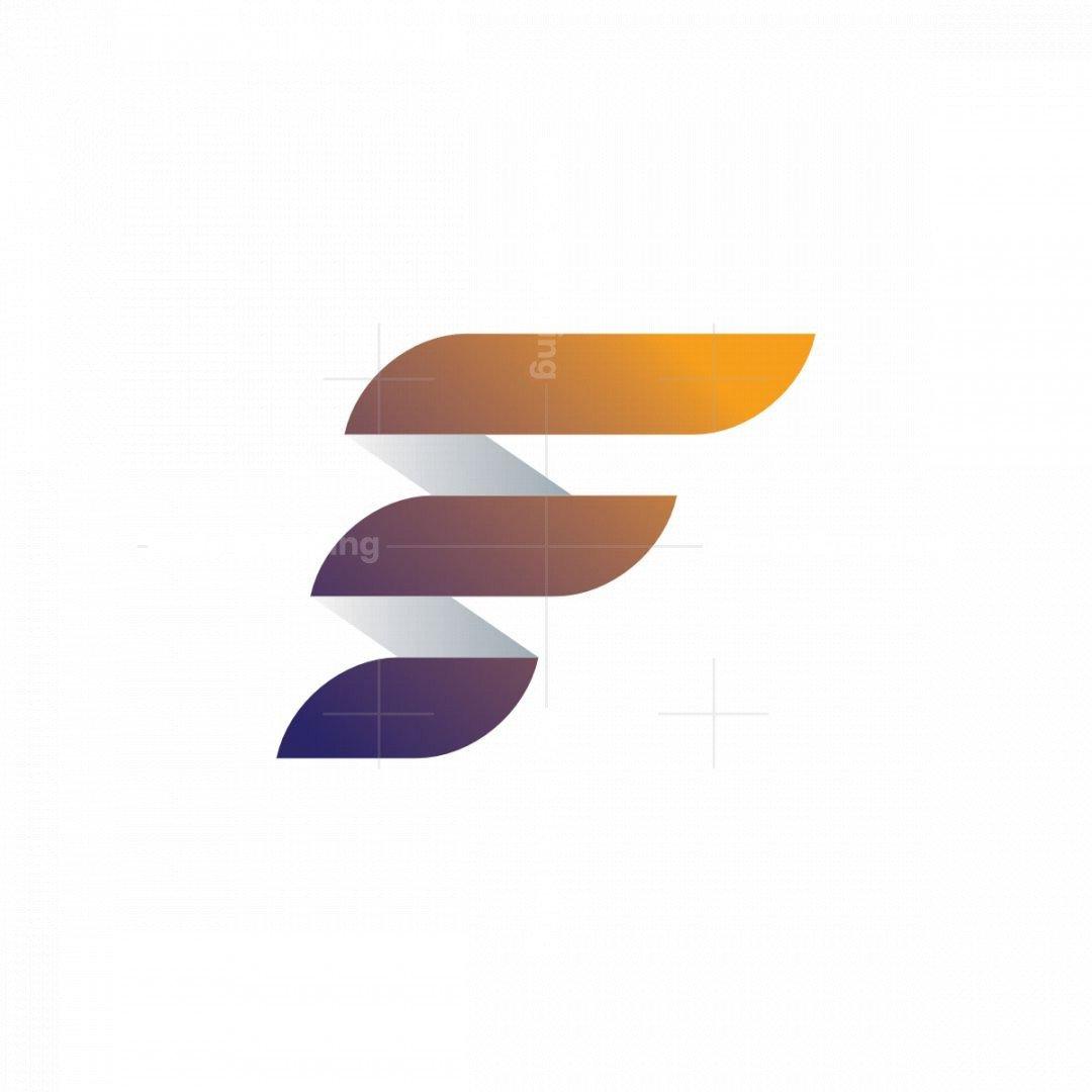 Modern Letter F Logo