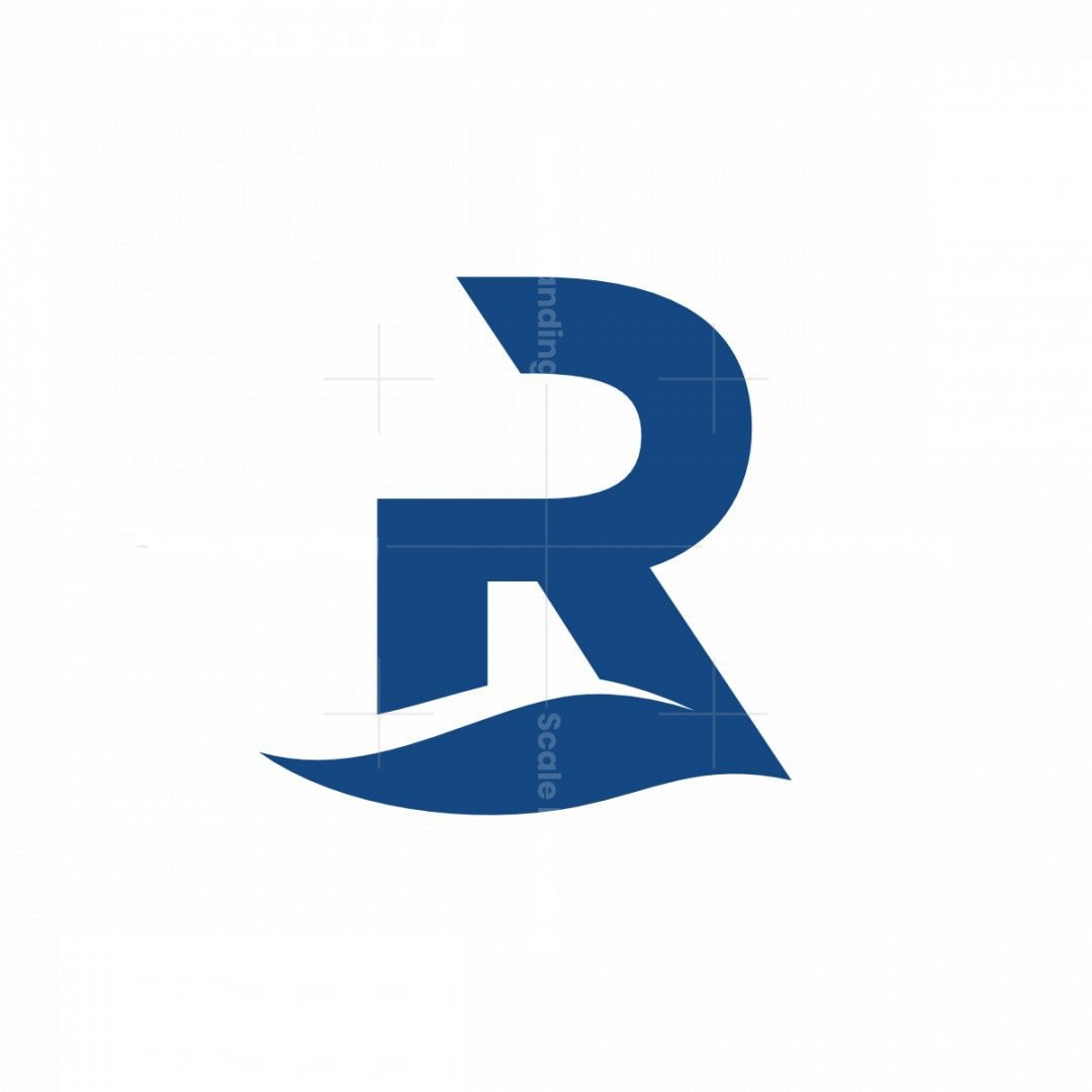 Modern Letter R Logo With A Flow