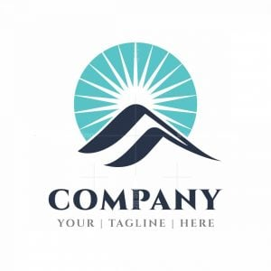 Mountain And Sunrise Letter Q Logo