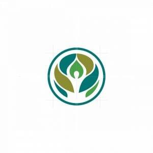 Nature Meditation Person Logo