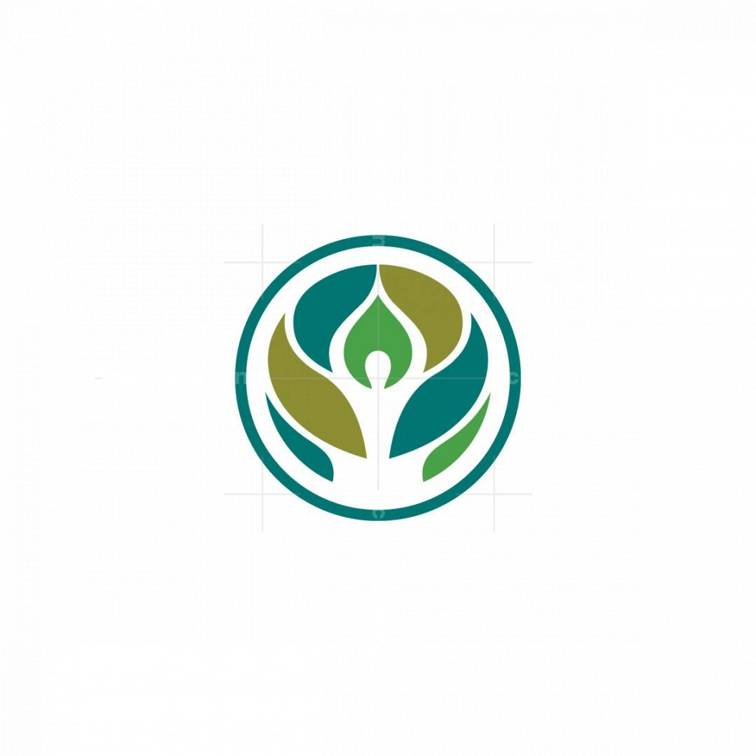Nature Meditation Person Logo