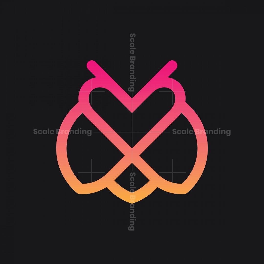 Outline Love Bee Logo
