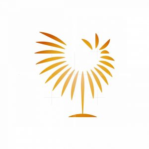 Radial Golden Rooster Logo