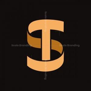 St Ts Monogram Letters Logo