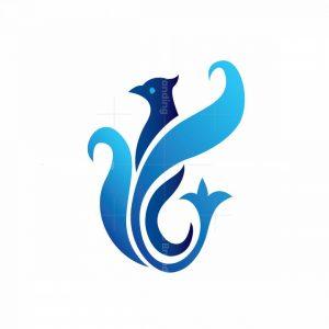 Blue Phoenix Bird Logo
