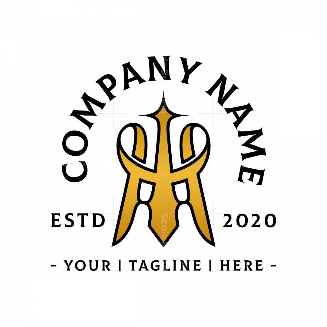 Unique And Stylized Golden Letter M Logo