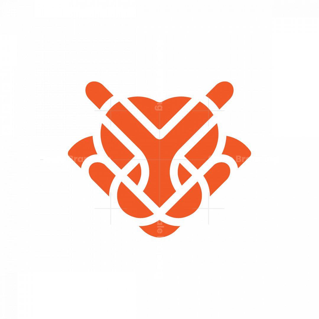 Tiger Head Outline Logo