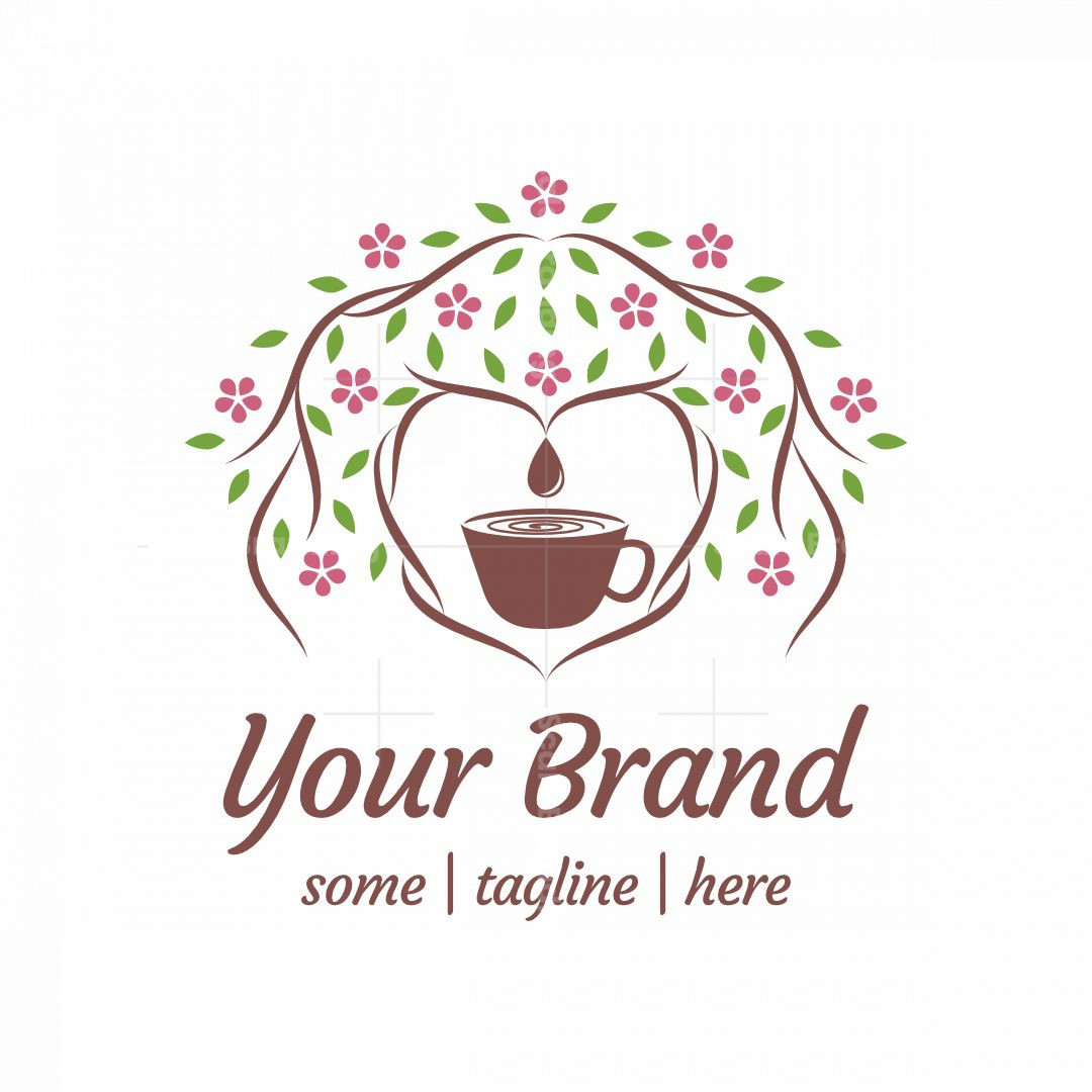 Heart-shaped Tea Garden Logo