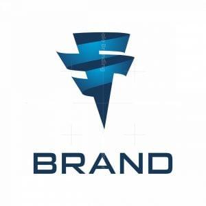 Dynamic Tornado Letter F Logo