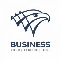 Triple Letter V Eagle Logo