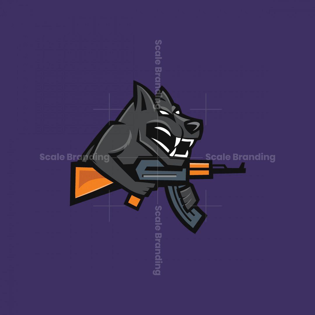 Wolf Cyber Sport Shooter Games Logo
