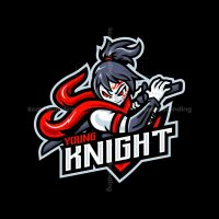 Young Knight Mascot Logo