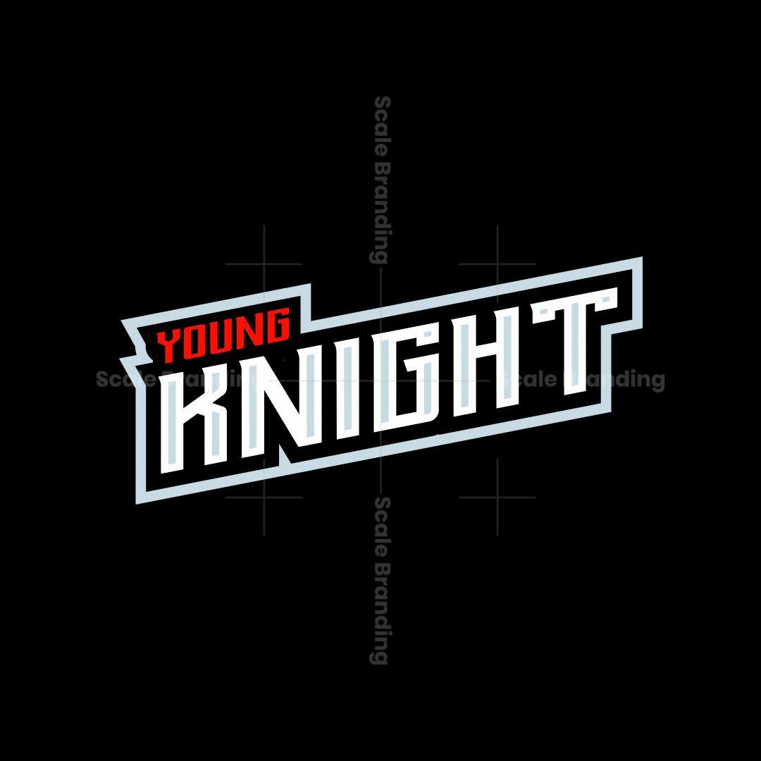 Young Knight Mascot Logo