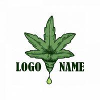 Hand-drawn Cannabis Logo
