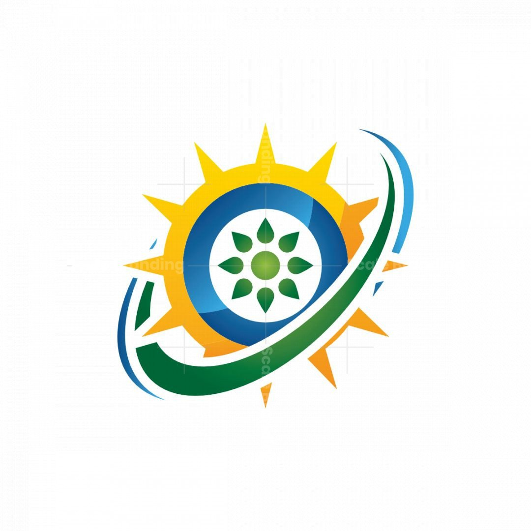 Clean And Renewable Solar Energy Logo