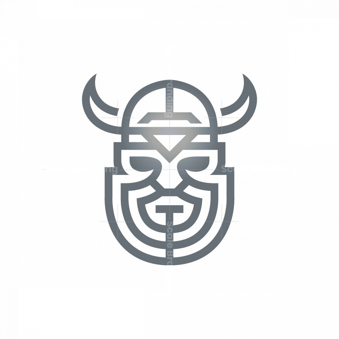 Silver Luxury Viking Logo