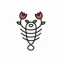 Flower Lobster Logo