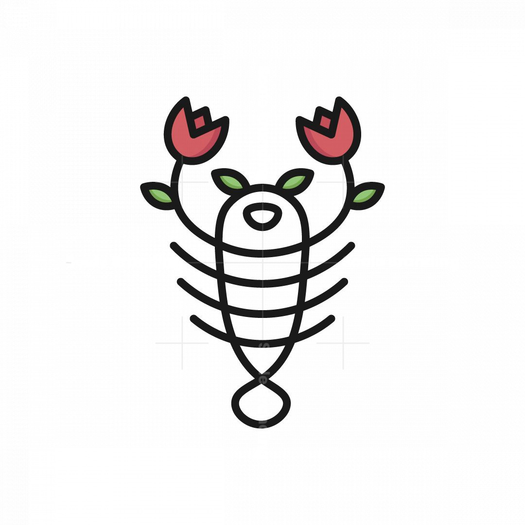 Flower Lobster Logo