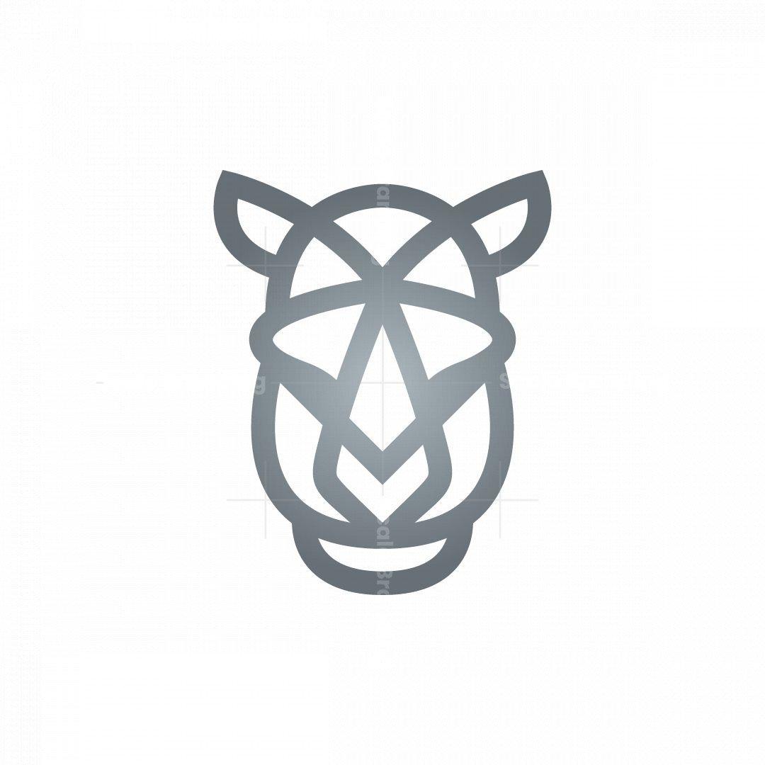 Rhinoceros Logo Silver Rhino Logo