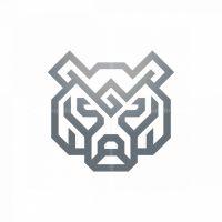 Glyph Silver Grizzly Bear Logo