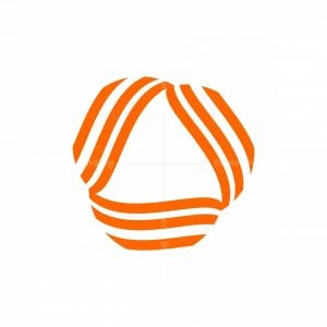 Triangle Inside Abstract Wave Line Logo