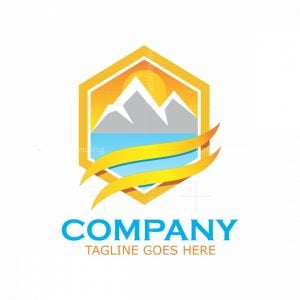 Orange Hexagonal Lansdcape Logo