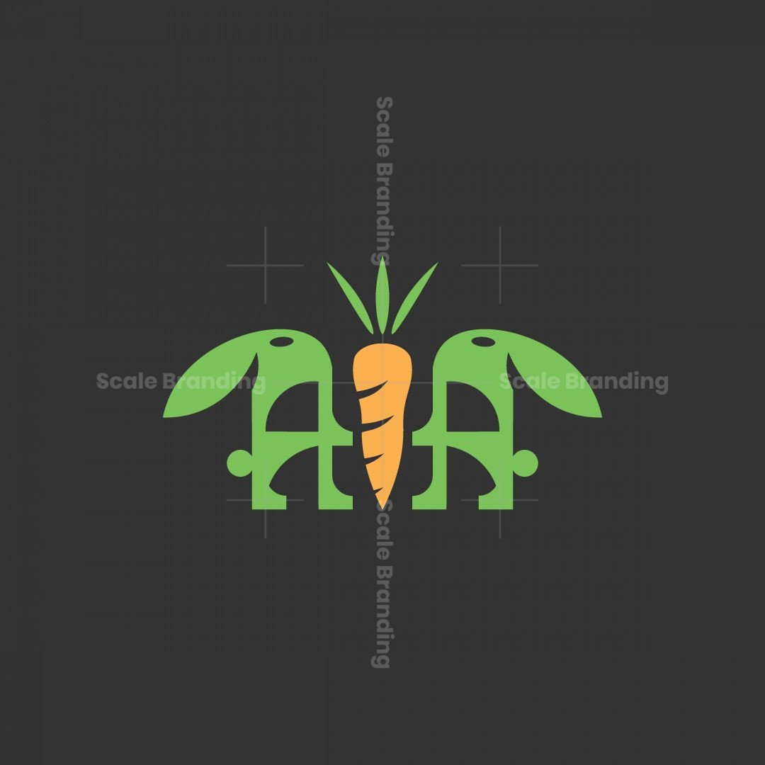 Letter Air Rabbit And Carrots Logo