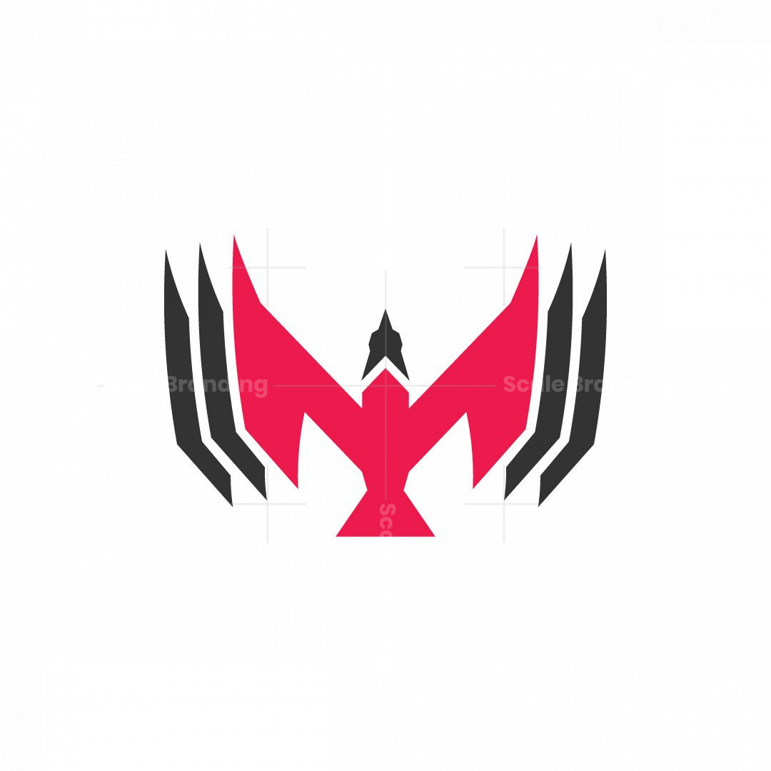Letter M Elegan Bird Logo
