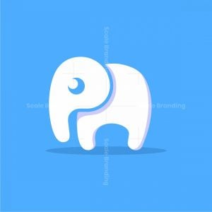 Letter P Elephant Logo
