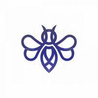 Purple Heart Bee Logo