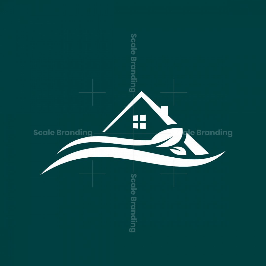 Real Estate Surrounded By Nature Logo