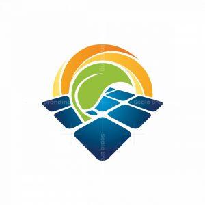 Solar Energy Farm Logo