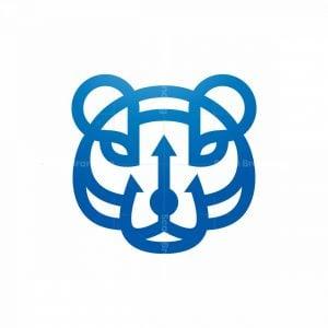 Trident Bear Head Logo
