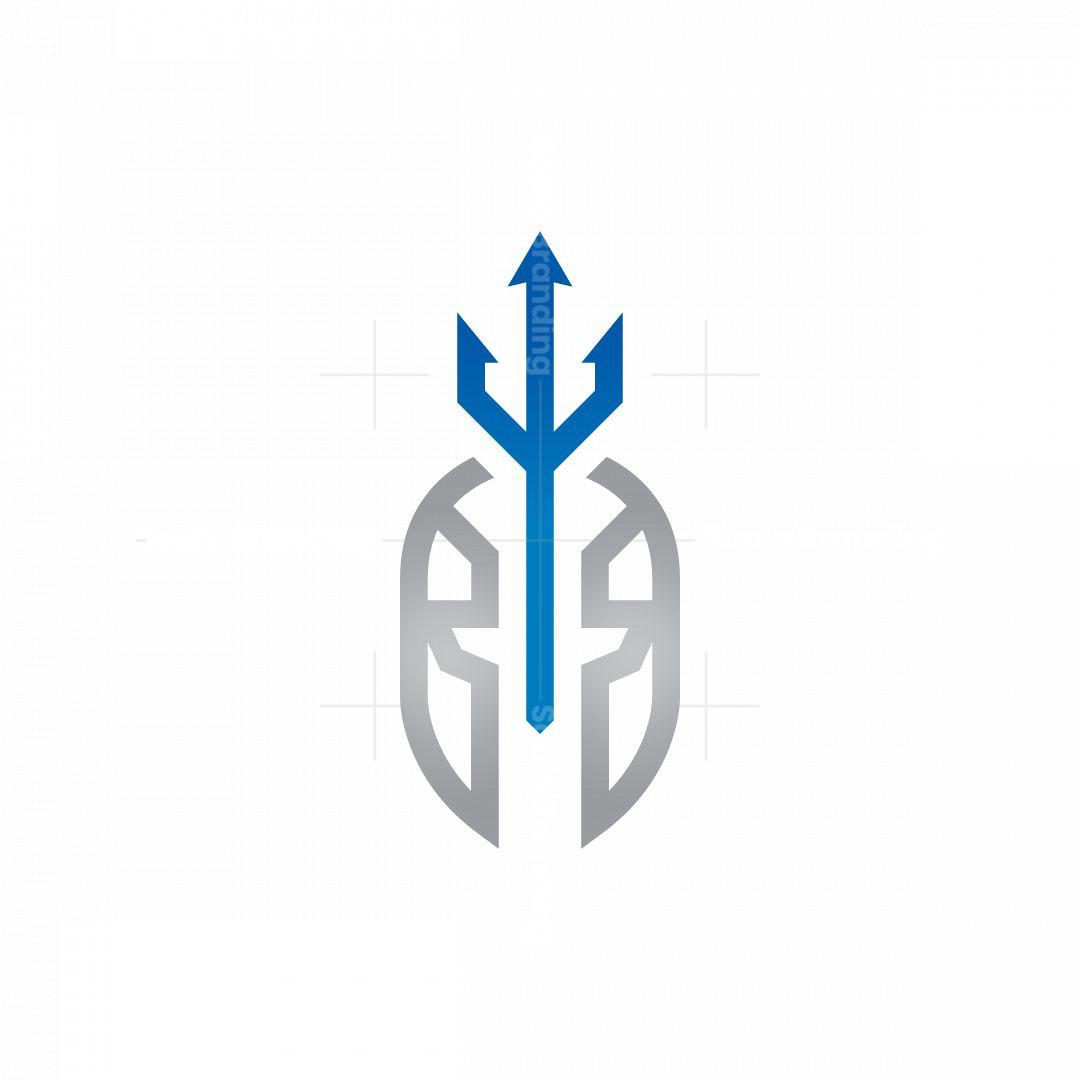 Trident Poseidon Helmet Logo