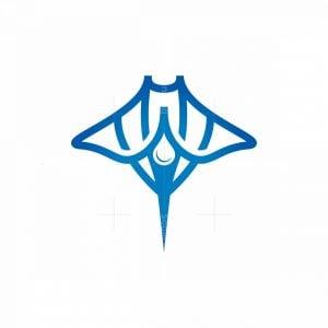 Water Drop Stingray Logo Manta Ray Logo