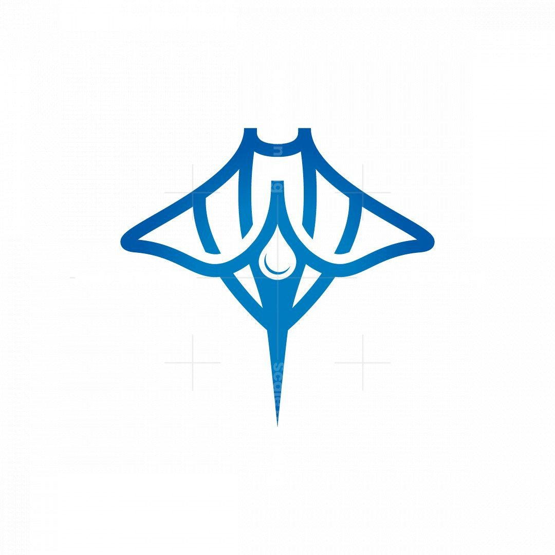 Water Drop Stingray Logo Manta Ray Logo