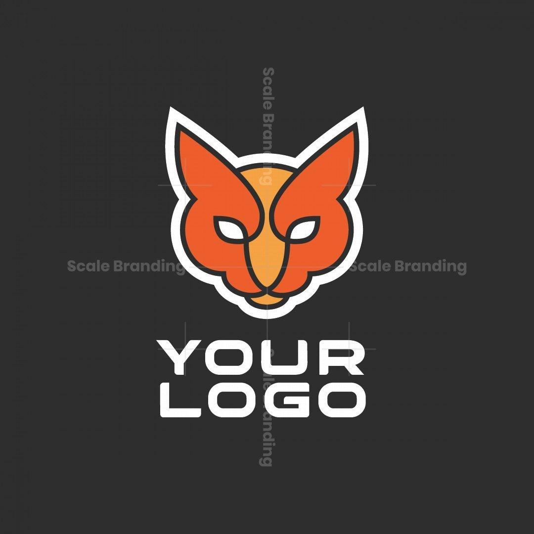 Minimal Cat Strong Power Logo
