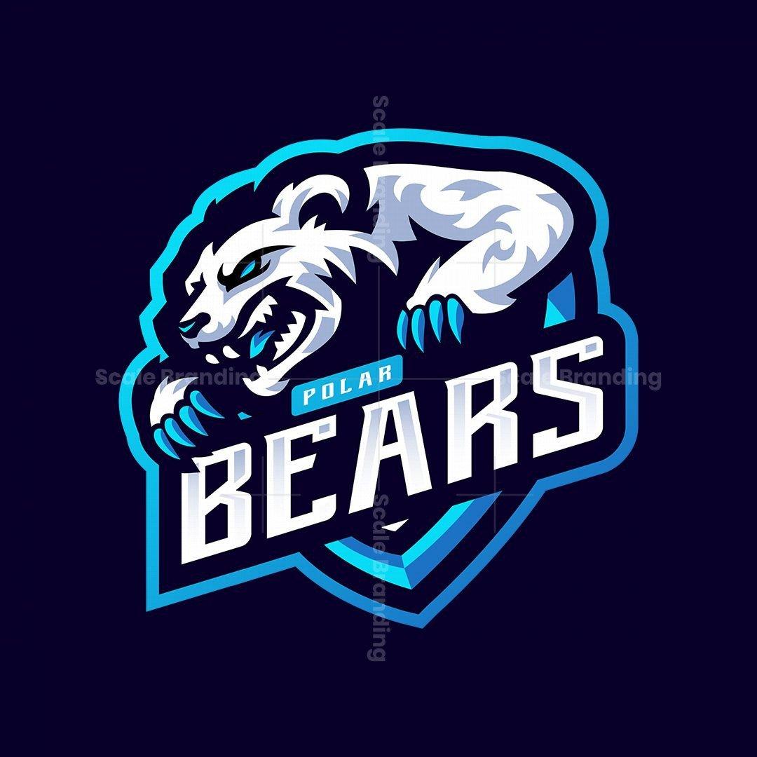 Polar Bears Mascot Logo