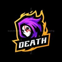 Death Mask Mascot Logo
