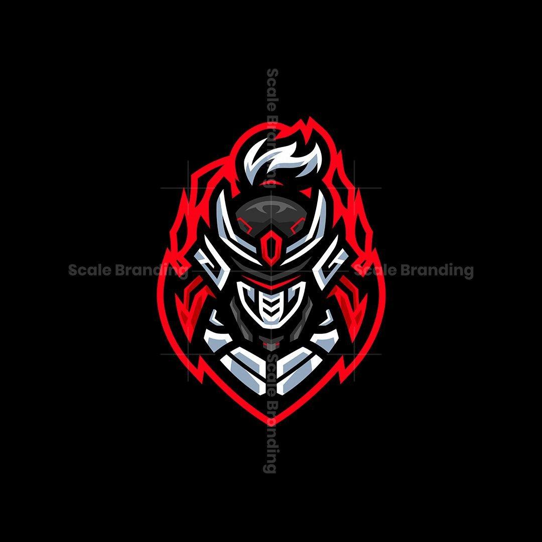 Shogun Cyborg Mascot Logo